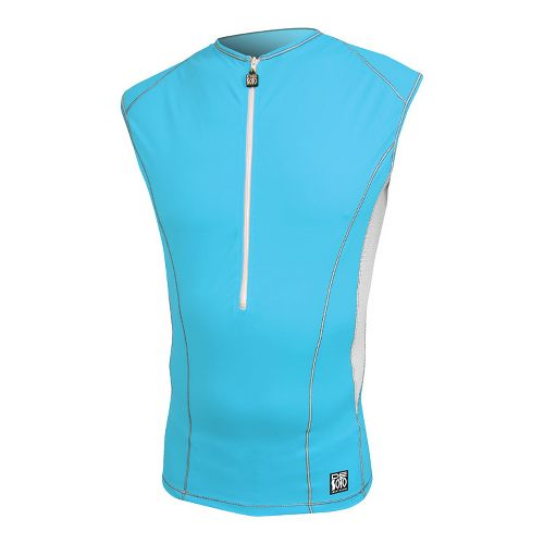 Mens De Soto Carrera Tri Jersey Sleeveless Technical Tops - Turquoise XL
