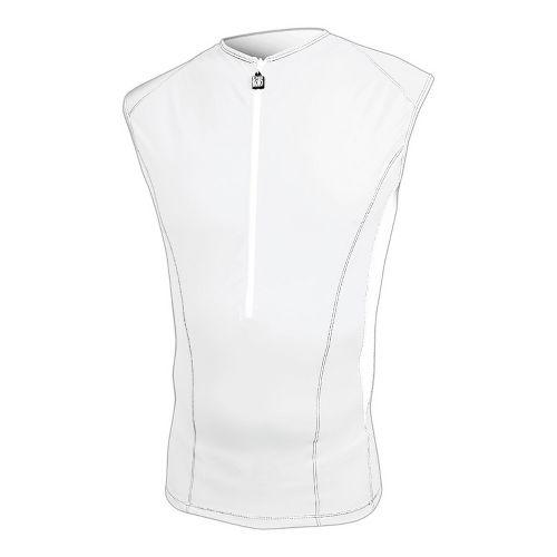 Mens De Soto Carrera Tri Jersey Sleeveless Technical Top - White XL