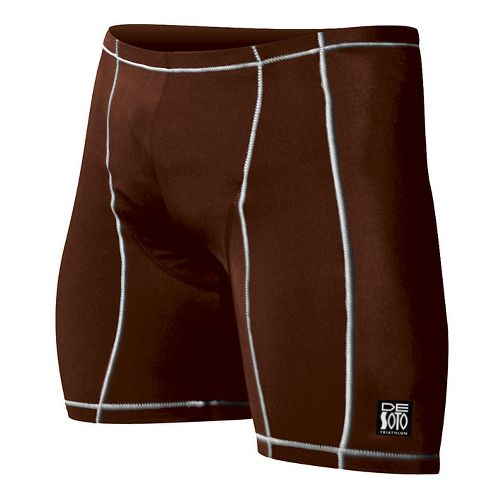 Mens De Soto Carrera Tri Fitted Shorts - Brown M