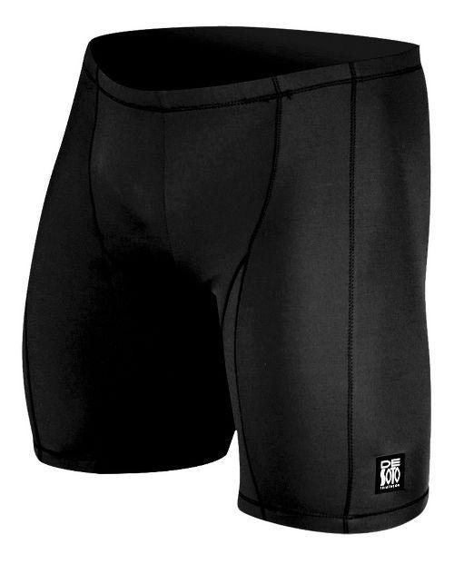 Mens De Soto Carrera Tri Fitted Shorts - Black S