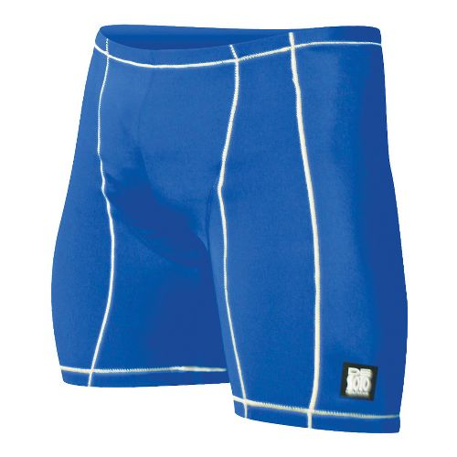 Mens De Soto Carrera Tri Fitted Shorts - Royal/White XS