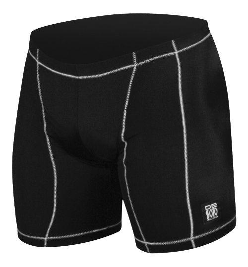 Mens De Soto Carrera Tri - Low Cut Fitted Shorts - Black/White S
