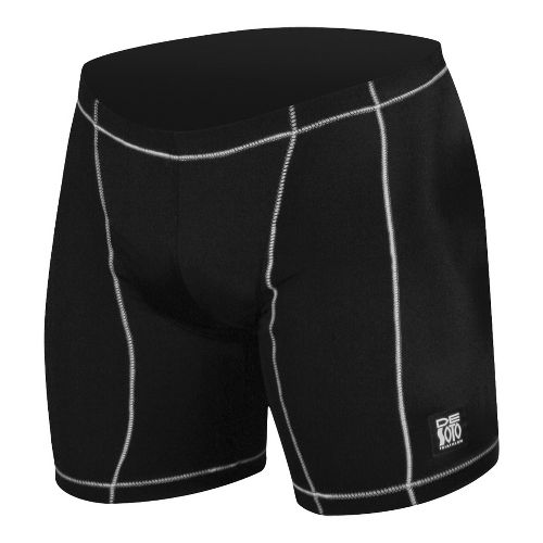 Mens De Soto Carrera Tri - Low Cut Fitted Shorts - Black/White M