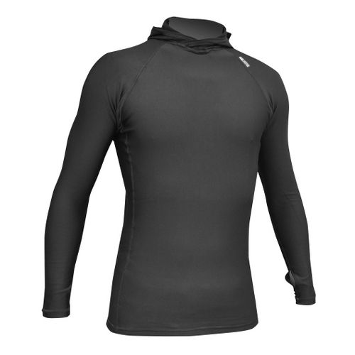 De Soto Polypro Thermal Hood Jersey Long Sleeve No Zip Technical Tops - Black XL ...