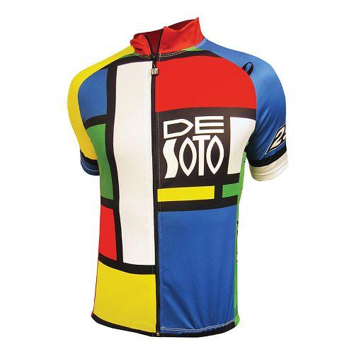 Mens De Soto Skin Cooler Bike Jersey Short Sleeve Technical Tops - Mondrian Color XL ...