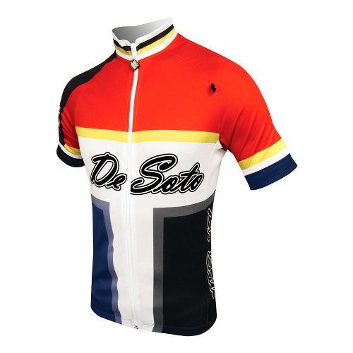 Mens De Soto Skin Cooler Bike Jersey Short Sleeve Technical Tops - Bold Print S ...