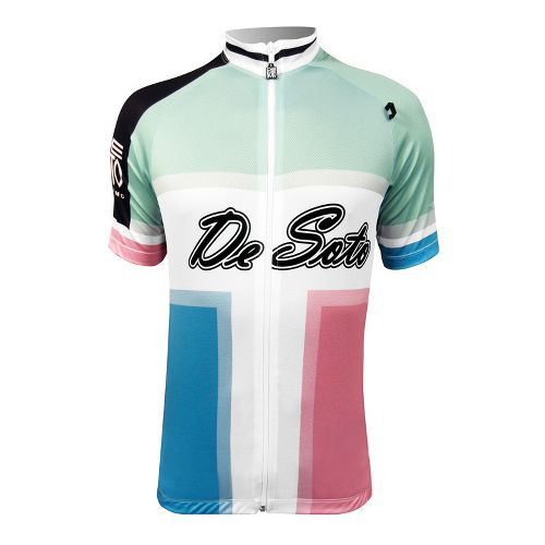 Mens De Soto Skin Cooler Bike Jersey Short Sleeve Technical Tops - Pastel Print M ...