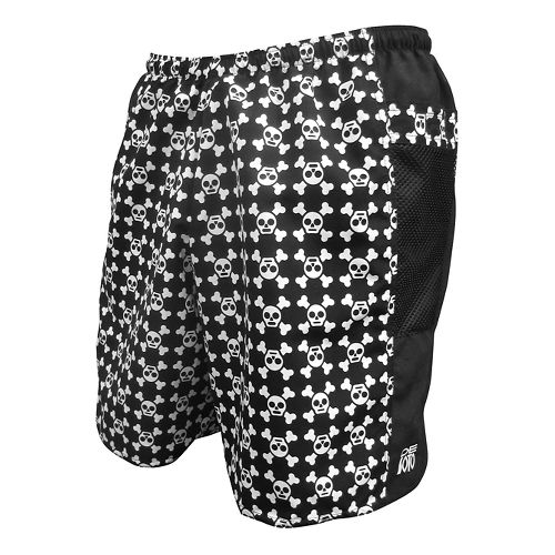Mens De Soto Tuesday Run - 4inch Lined Shorts - Skull/Crossbones M