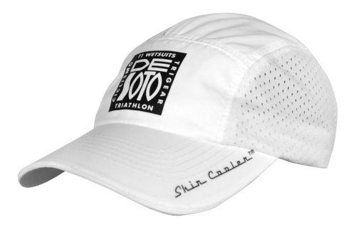De Soto Skin Cooler Run Cap w/ Pocket Headwear - White