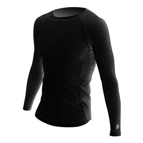 Mens De Soto Skin Cooler Long Sleeve No Zip Technical Tops - Black S