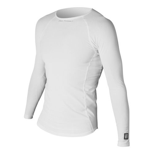 Mens De Soto Skin Cooler Long Sleeve No Zip Technical Tops - White XL