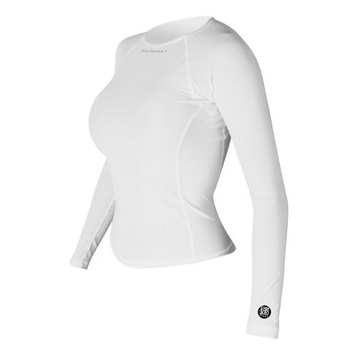 Womens De Soto Skin Cooler Long Sleeve No Zip Technical Tops - White XS