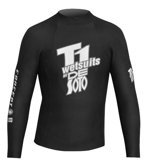 De Soto T1 First Wave Concept 5 Pullover Long Sleeve No Zip Technical Tops - Black 4