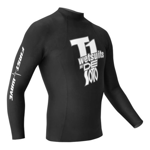 De Soto T1 First Wave Pullover Long Sleeve 1/2 Zip Technical Tops - Black 2