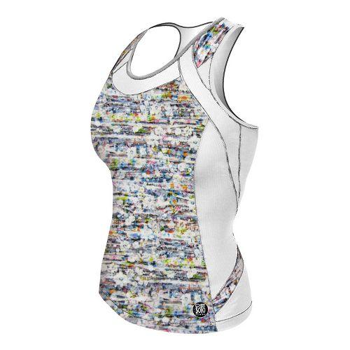 Womens De Soto Femme Forza Riviera Tri Sport Top Bras - White/Print L