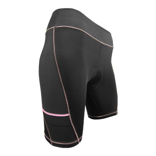 Womens De Soto Femme 400-Mile Bike Fitted Shorts - Black/Pink XS