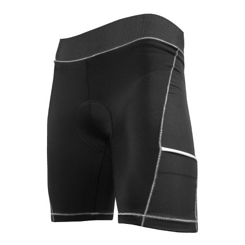 Womens De Soto Femme 400-Mile Bike Fitted Shorts - Black/Silver L