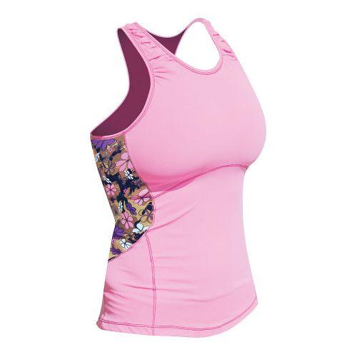 Womens De Soto Femme Carrera Sprint Sport Top Bras - Passionate Pink/Print S