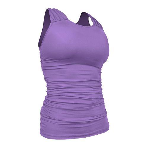 Womens De Soto Femme Carrera Ruche Full Top Singlets Technical Tops - Powerful Purple L ...