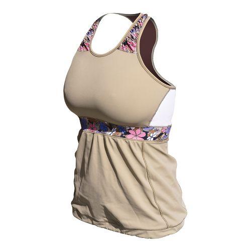 Womens De Soto Femme Carrera Loose Fit Tri Sport Top Bras - Courageous Khaki/Print S ...