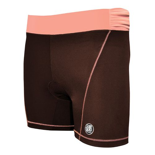 Womens De Soto Femme Carrera Tri Fitted Shorts - Chocolate/Orange S