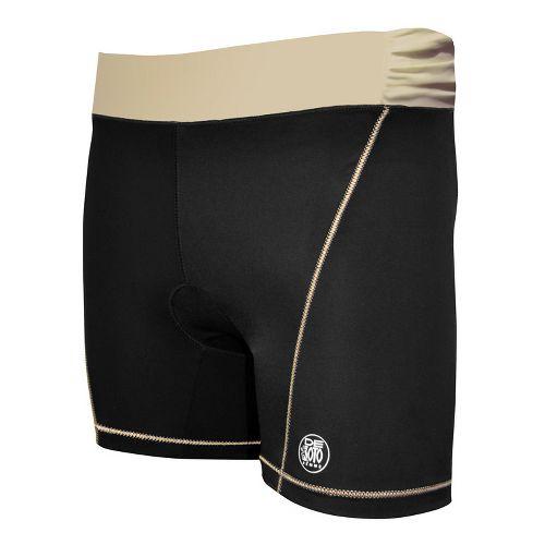 Womens De Soto Femme Carrera Tri Fitted Shorts - Chocolate/Orange L