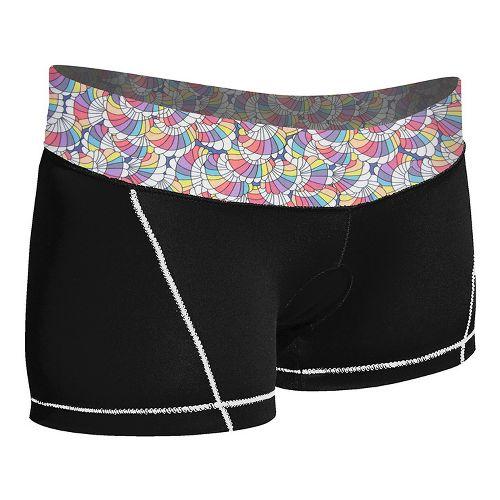 Womens De Soto Femme Carrera Micro Tri Fitted Shorts - Black/Print M