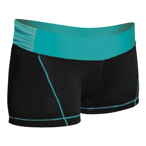 Womens De Soto Femme Carrera Micro Tri Fitted Shorts - Black/Fiji Teal S