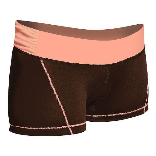 Womens De Soto Femme Carrera Micro Tri Fitted Shorts - Chocolate/Orange XS