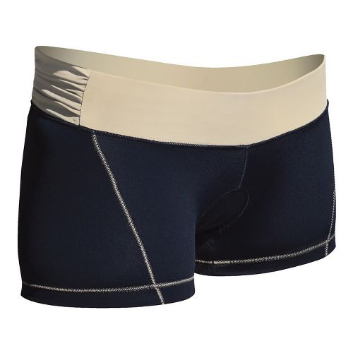 Womens De Soto Femme Carrera Micro Tri Fitted Shorts - Black/Courageous Khaki XS