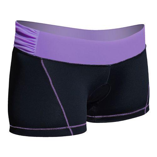 Womens De Soto Femme Carrera Micro Tri Fitted Shorts - Black/Powerful Purple L