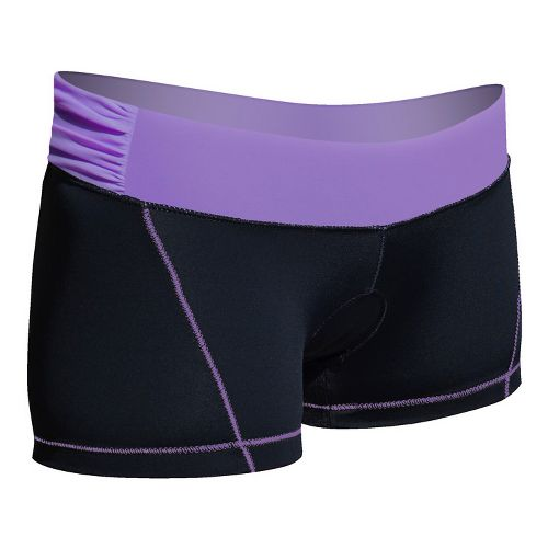 Womens De Soto Femme Carrera Micro Tri Fitted Shorts - Black/Powerful Purple M