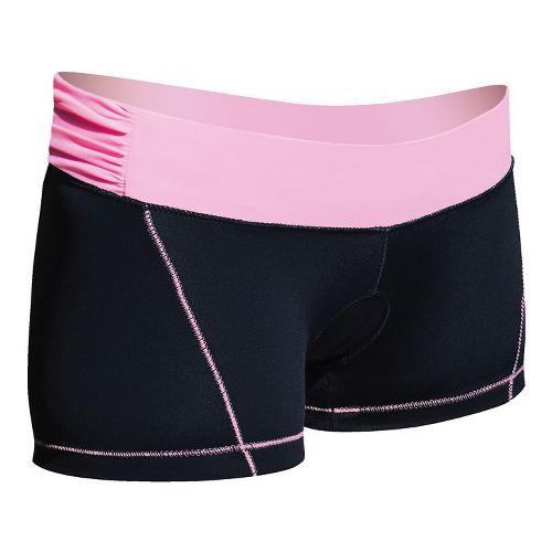 Womens De Soto Femme Carrera Micro Tri Fitted Shorts - Black/Passionate Pink M
