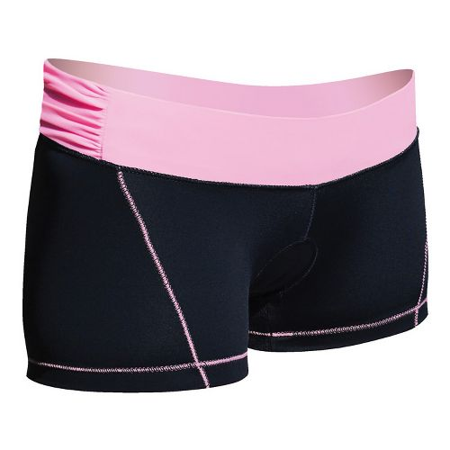 Womens De Soto Femme Carrera Micro Tri Fitted Shorts - Black/Passionate Pink XS