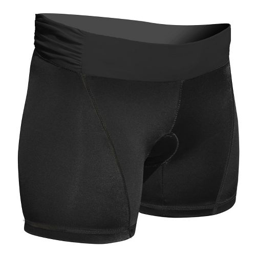 Womens De Soto Femme Carrera Tri Low-Rise Fitted Shorts - Victorious Black XS