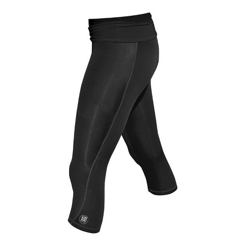Womens De Soto Femme Carrera Tri Half Fold Band Capri Tights - Victorious Black L ...