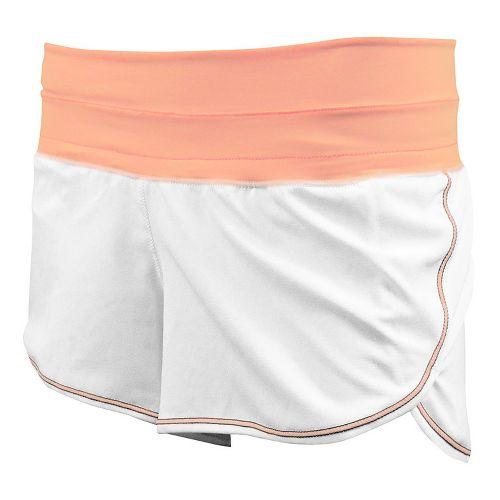Womens De Soto Femme Run Lined Shorts - White/Orange M