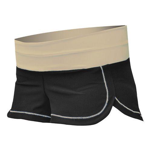 Womens De Soto Femme Run Lined Shorts - Courageous Khaki XS
