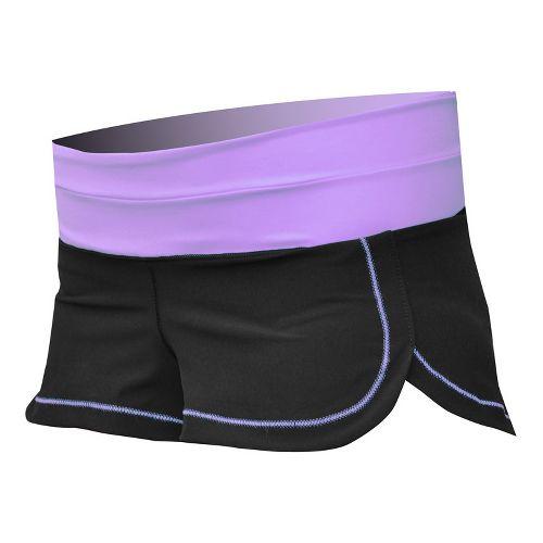Womens De Soto Femme Run Lined Shorts - Fiji Teal XS
