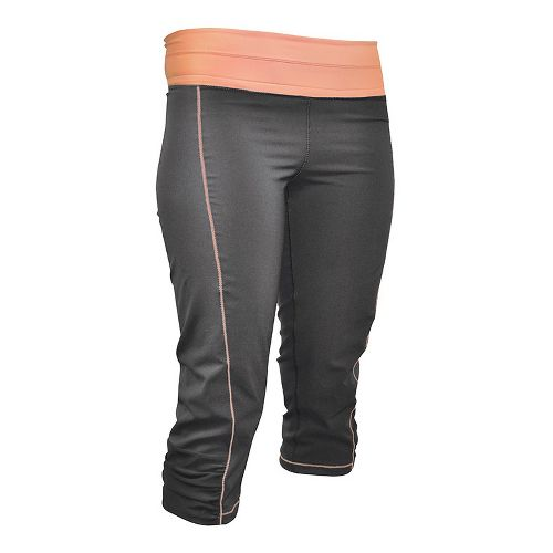 Womens De Soto Femme Run Capri Tights - Graphite/Orange M
