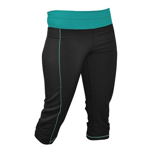 Womens De Soto Femme Run Capri Tights - Fiji Teal L