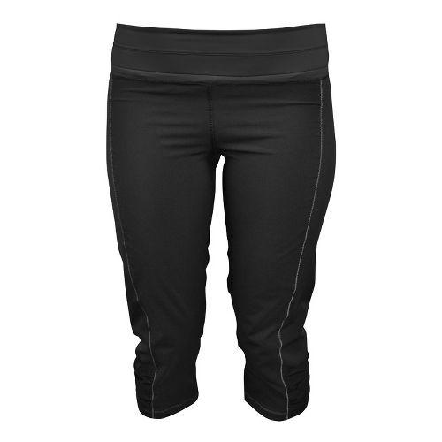 Womens De Soto Femme Run Capri Tights - Black XS
