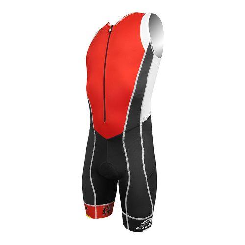 Mens De Soto Forza Triathlon UniSuits - Red/Black Band XL