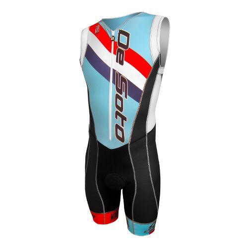 Mens De Soto Forza Triathlon UniSuits - Nassau Blue Stripe L
