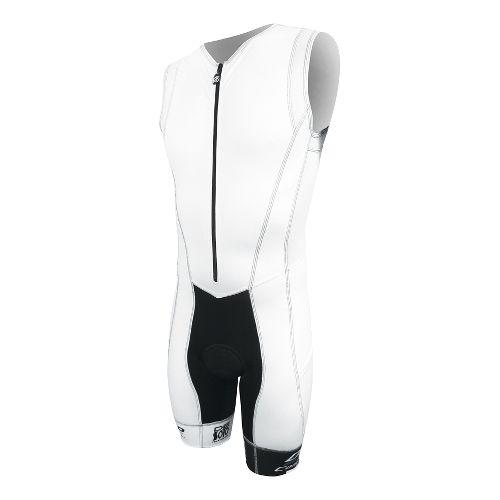 Mens De Soto Forza Trisuit Triathlon UniSuits - White M