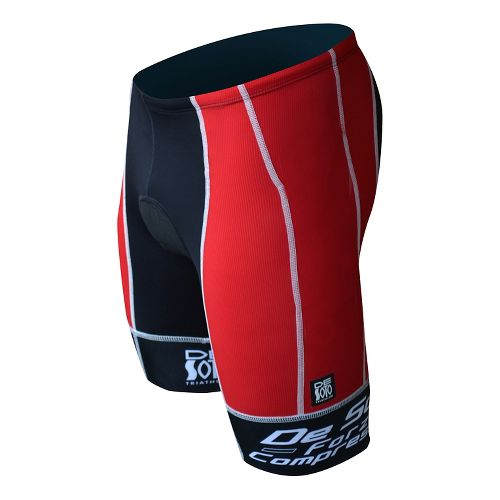 Mens De Soto Forza Tri Fitted Shorts - Red/White S