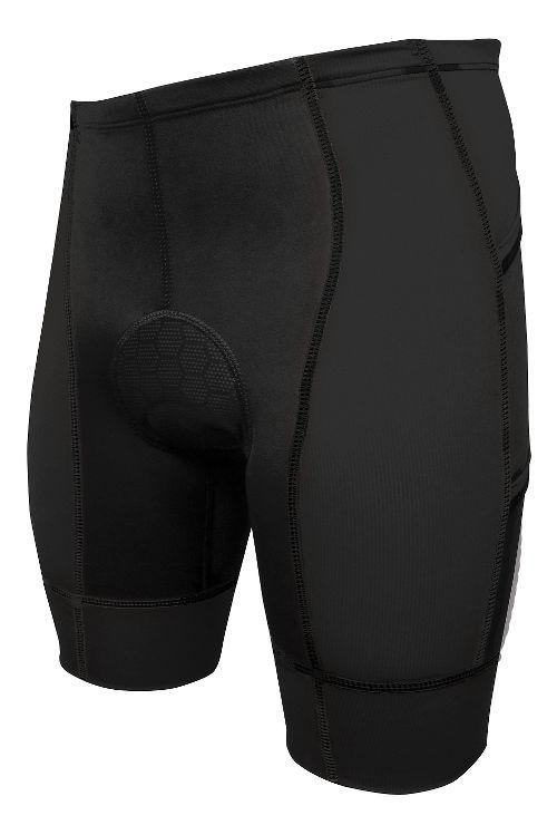Mens De Soto Forza Tri Fitted Shorts - Black S