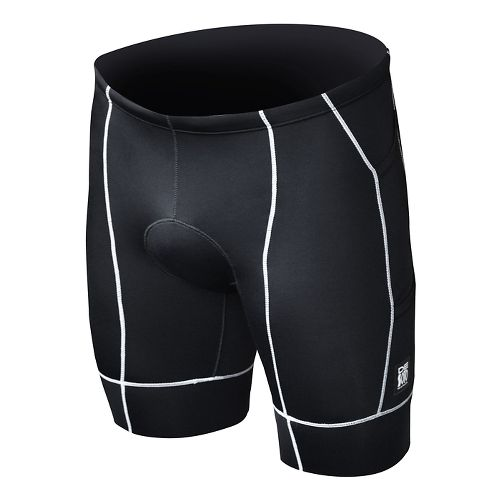 Mens De Soto Forza Tri Fitted Shorts - Black/White S