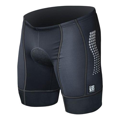 Mens De Soto Forza Tri Low-Cut Fitted Shorts - Black L