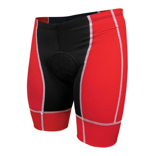 Mens De Soto Forza Tri Low-Cut Fitted Shorts - Red/White L